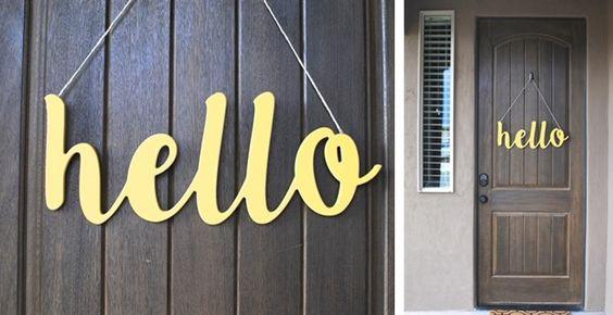 Originálny nápis na dverách